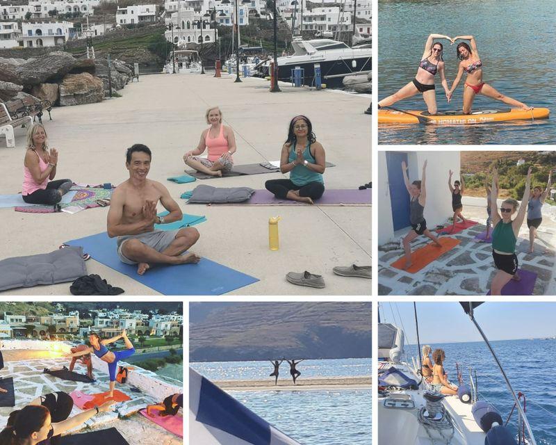 8 Unique Days of SUP, Yoga Holiday & Sailing Trip around Greek Islands