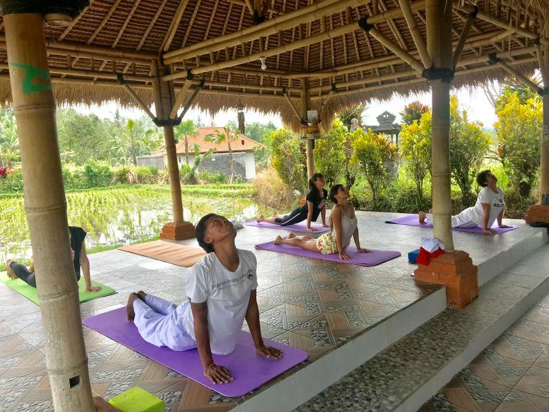 morning yoga session