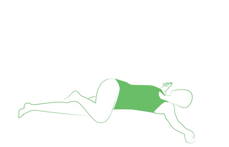 supine spinal twist yoga pose for relaxation