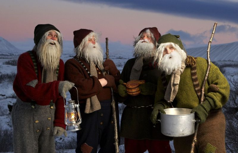 yule lads in dimmu borgir iceland