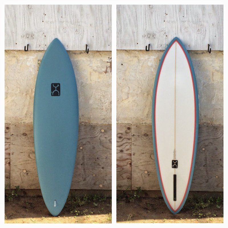 single fin surf board