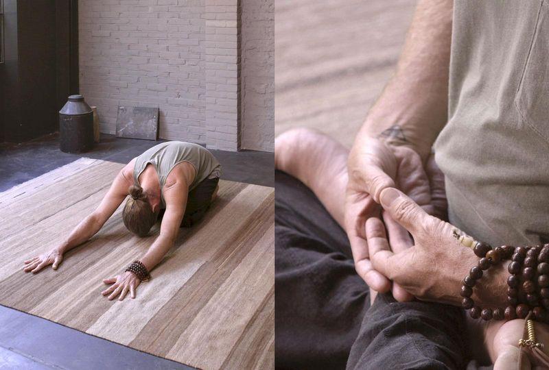 Kevin Sahaj in a yoga studio