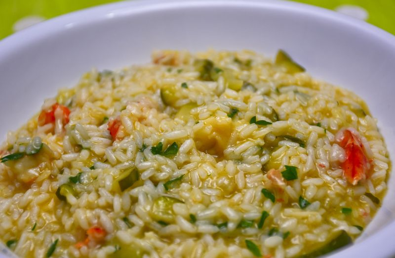 vegetables rissotto