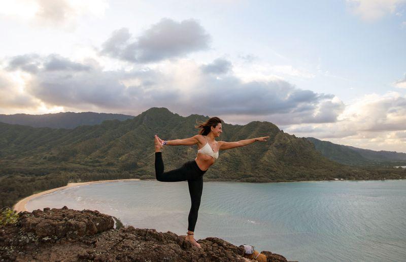 yoga and hiking
