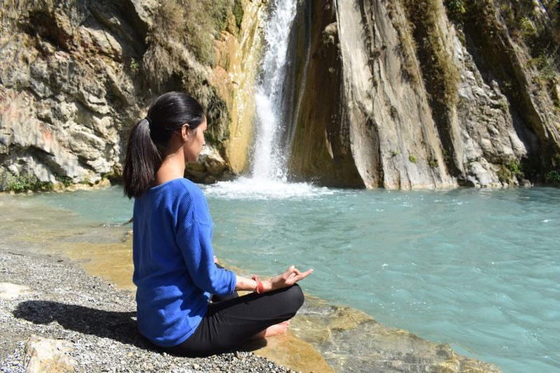 woman meditation outdoor