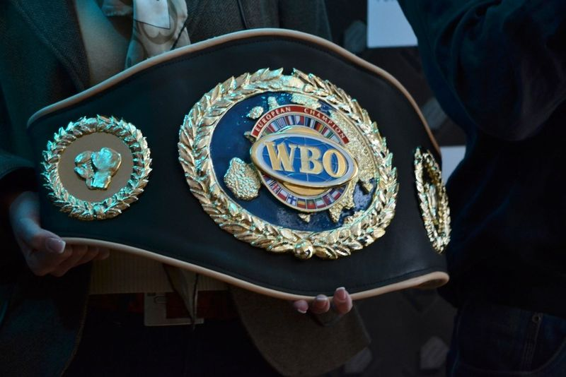 boxing champion belt close up