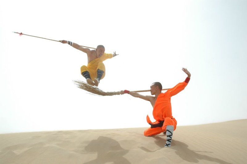 kung fu warriors on a desert