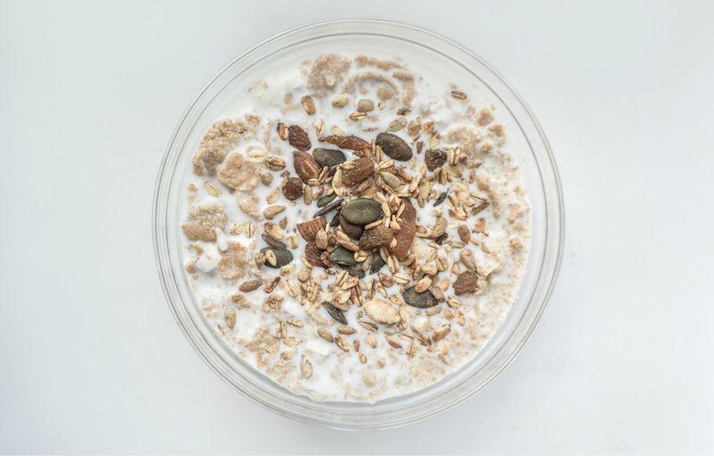 Healthy breakfast - Greek yogurt probiotic