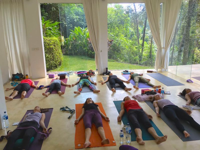 yoga course savasana
