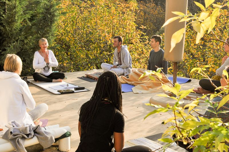 a group meditation in south africa