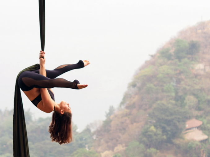 yoga retreat aerial