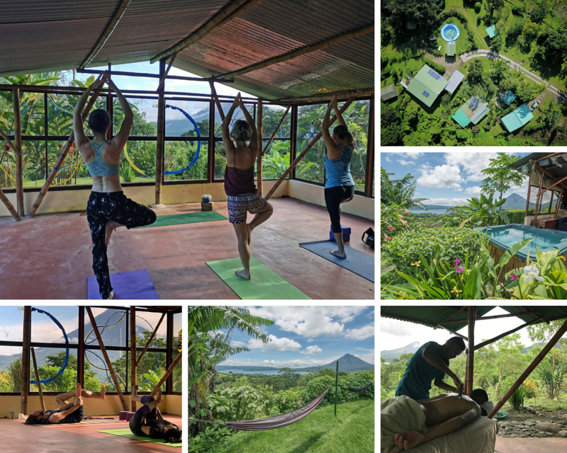 yoga in Lake Arenal