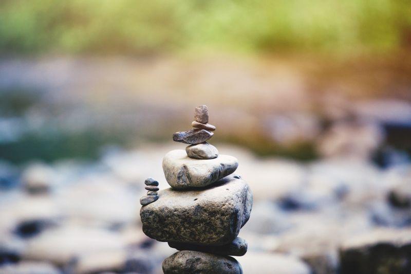 pyramid of rocks