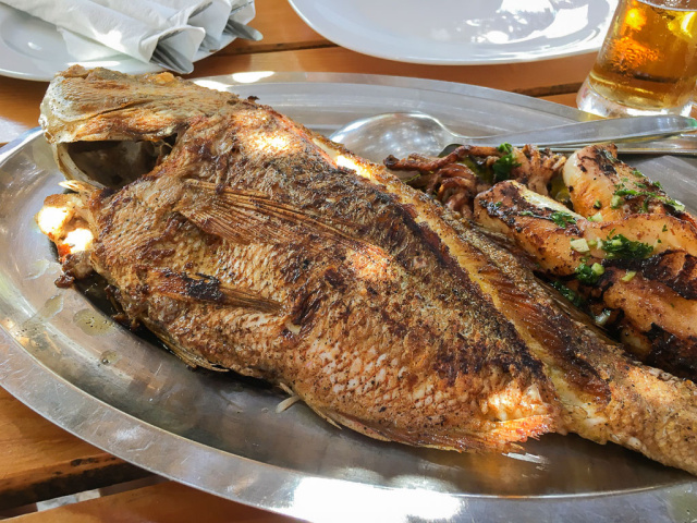 Grilled fish in Croatia