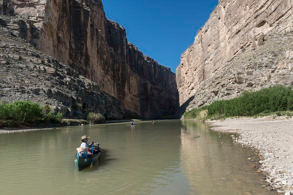 canoeing at Big Bend National Park