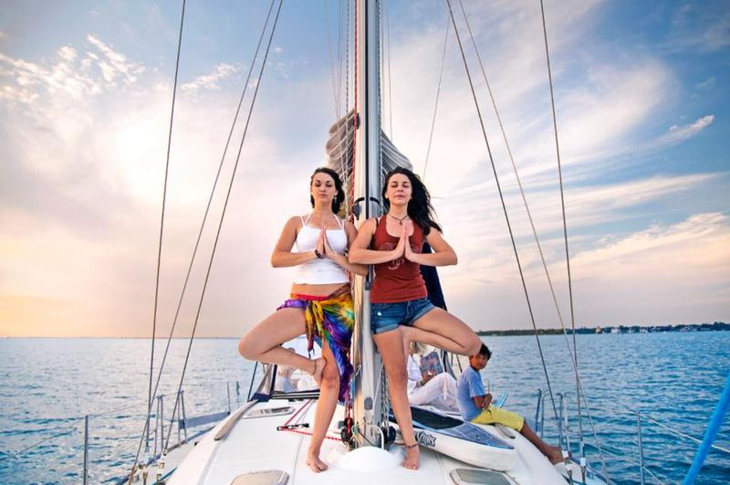 yoga holiday on a boat