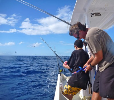 our family foodie trip at taveuni palms - fishing trip with tony
