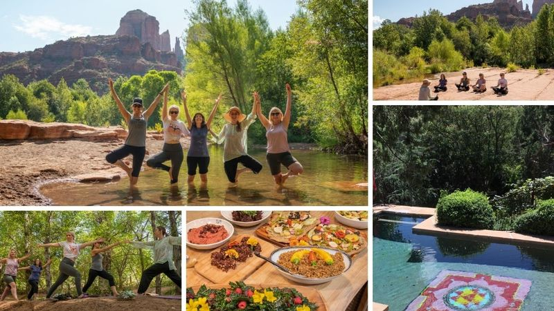 4 Day Plant-Based Organic Farm-to-Table Culinary and Yoga Holiday in Sedona, Arizona