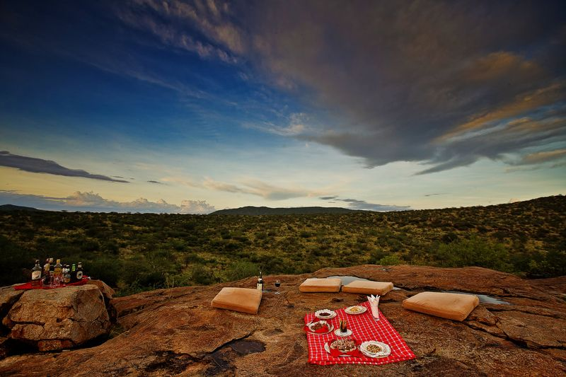 a picnic in samburu national reserve