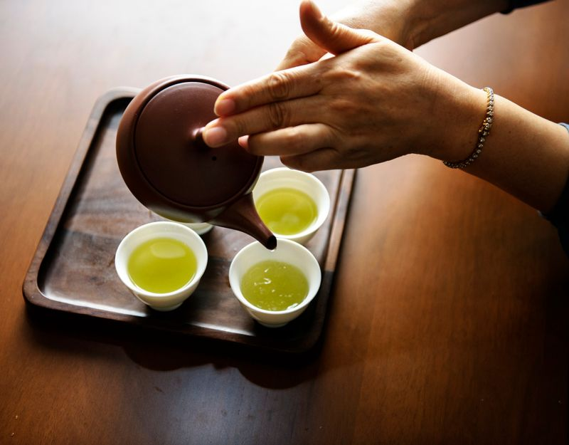 green tea is full of anti-oxidants