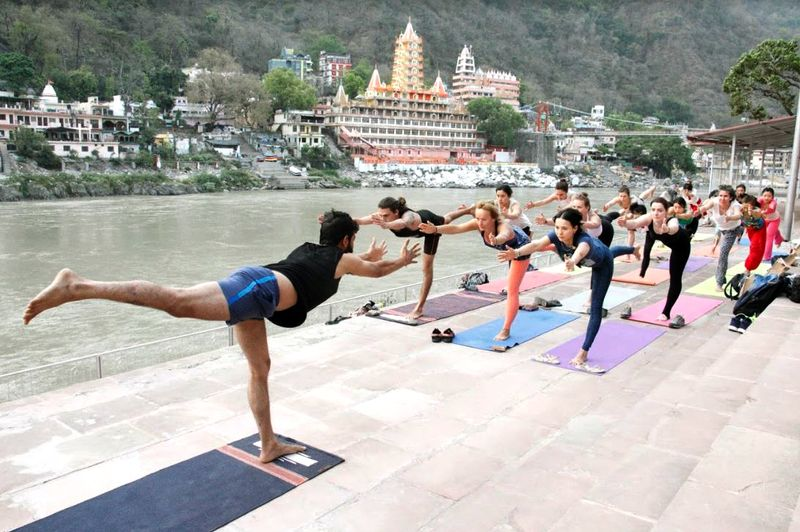 yoga by the ganga
