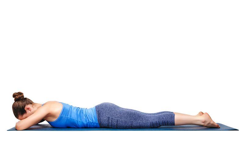makarasana yoga pose