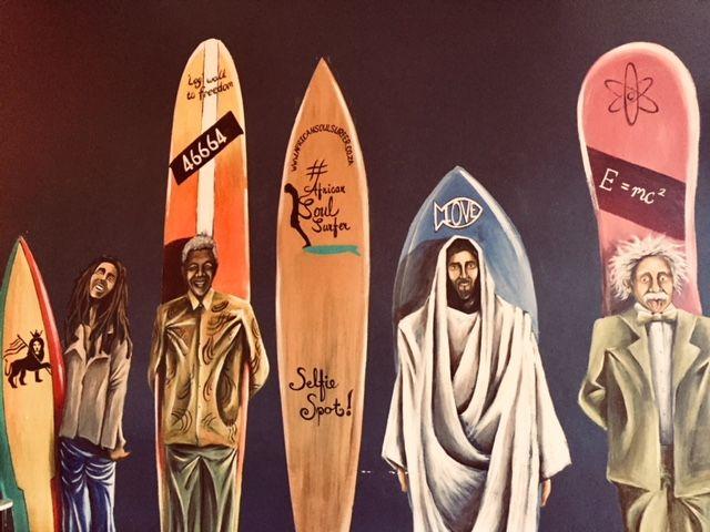 Surf art at African Soul Surfer