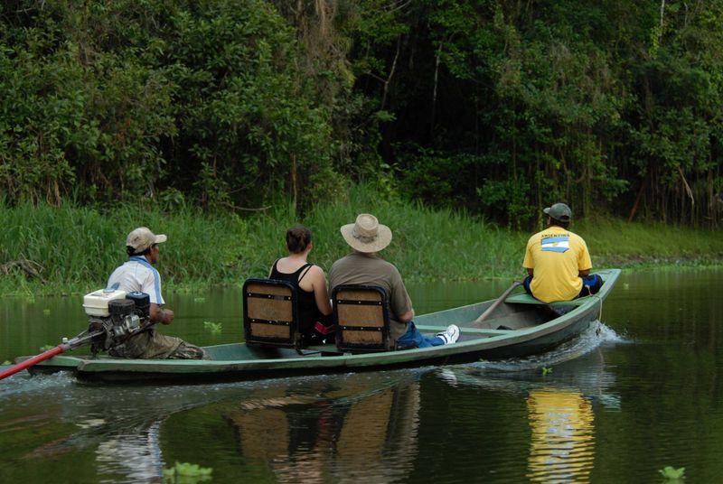 canoe tour in the amazon