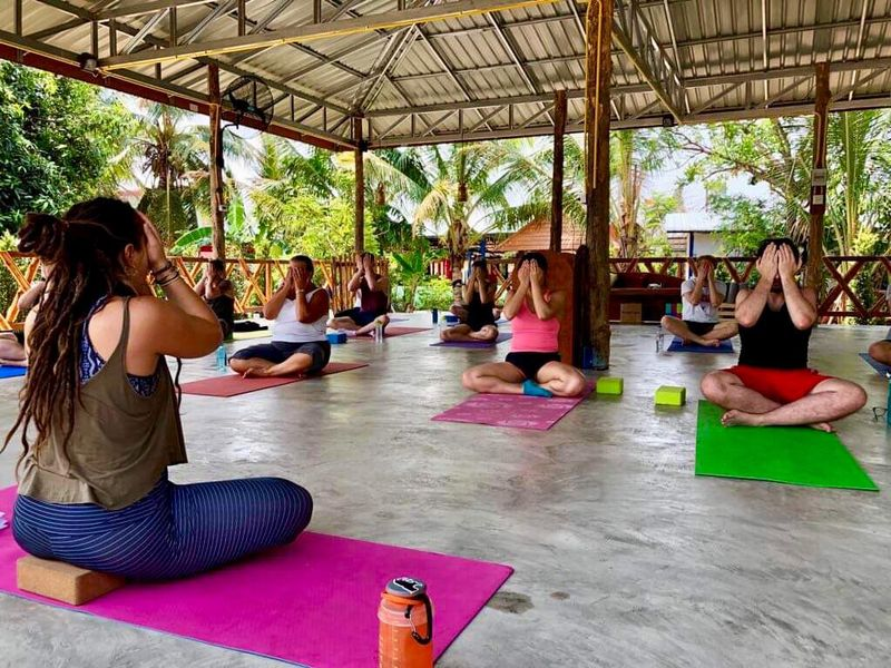a group meditation