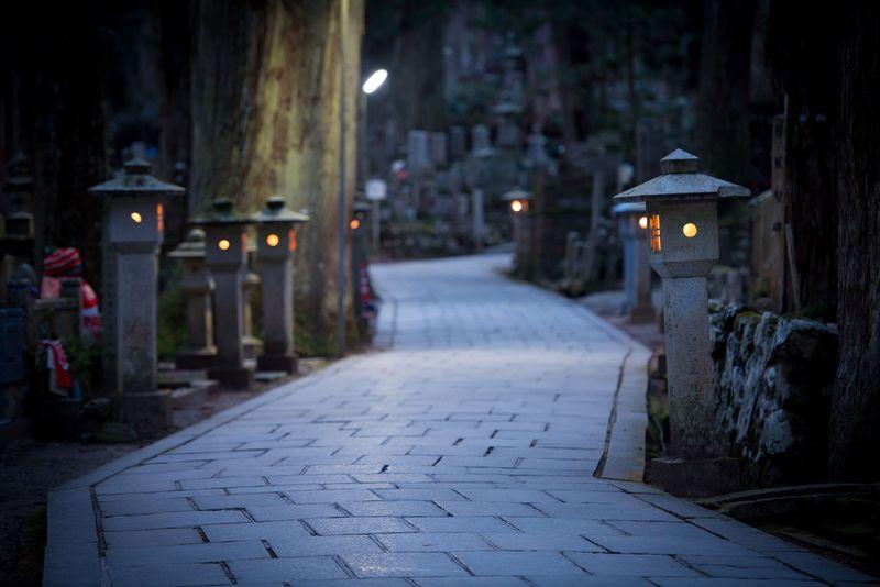 mount koya lamps