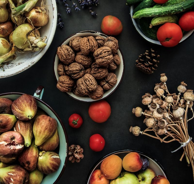 fruit and vegetables on the table