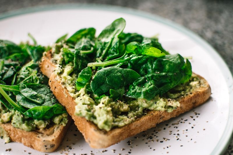 Basil and avocado toast