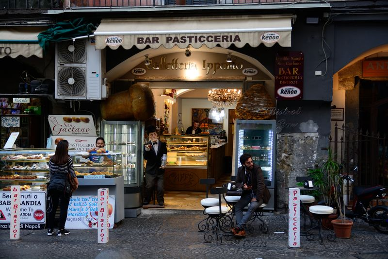 bar and pastry shop in italy