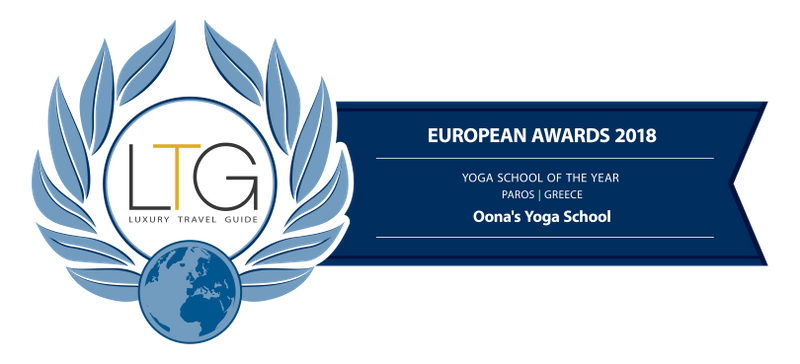 oona parvos yoga school award 2018