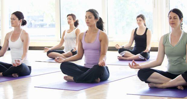 spot in yoga class