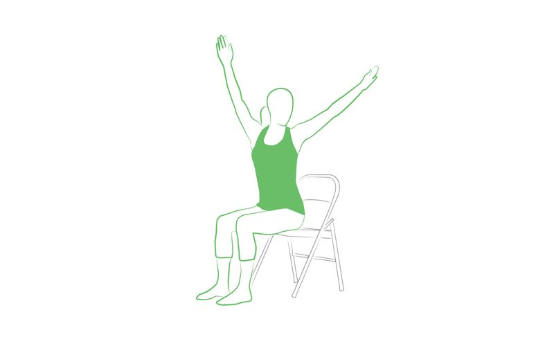 yoga chair pose you can do at work