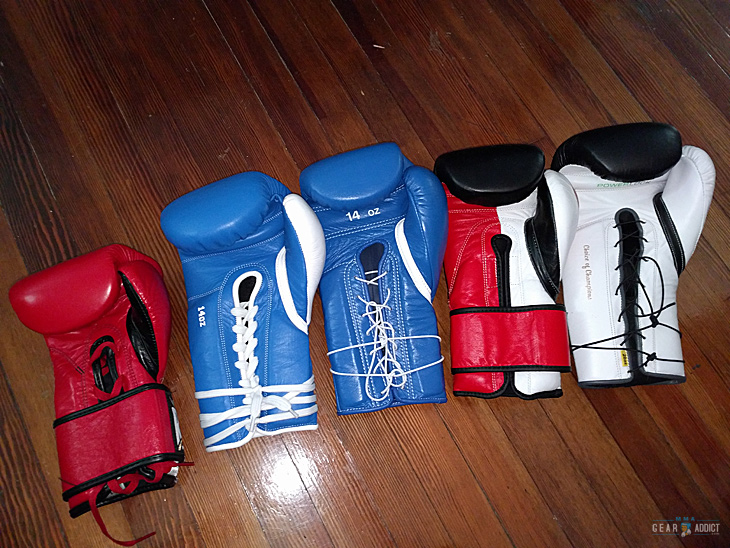 a range of boxing gloves