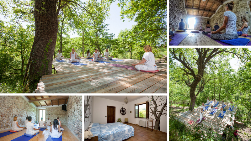 countryside yoga holiday in abruzzi national park
