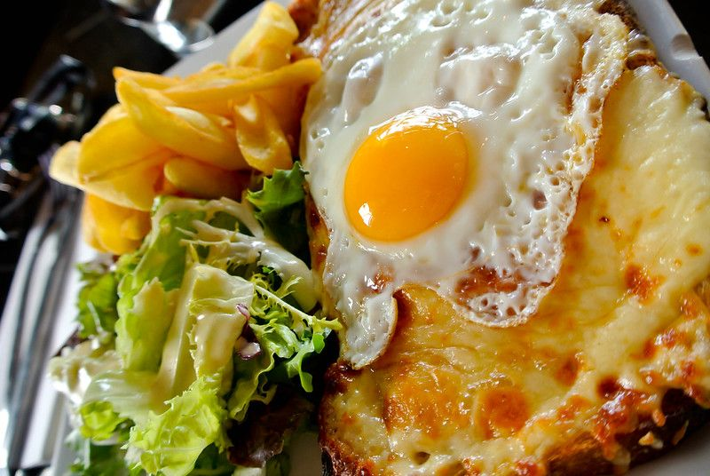 Croque Madame - the Croque Monsieur with egg (toastie) -in France