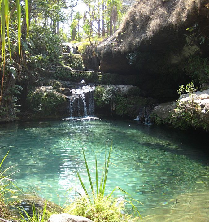Natural swimming pool in Isalo National Park