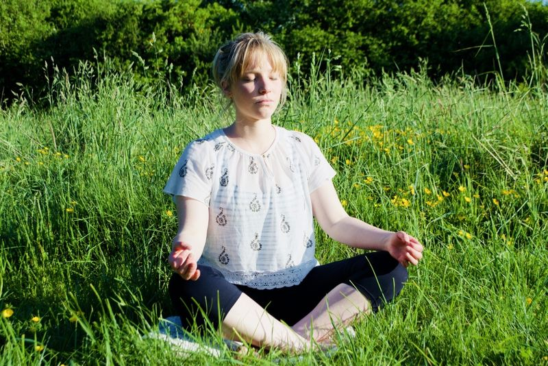 person meditating in ireland