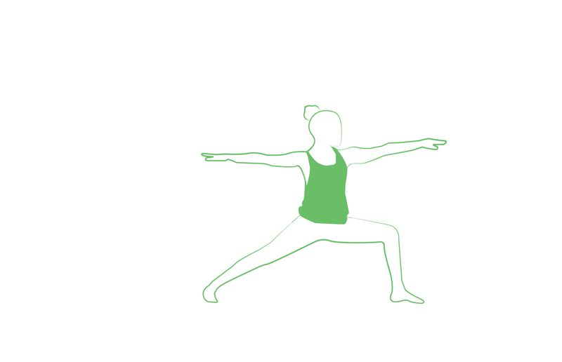 warrior II yoga pose for better focus