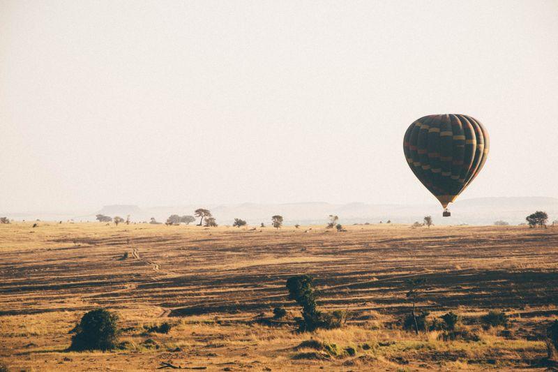 balloon ride over Serengeti in Tanzania