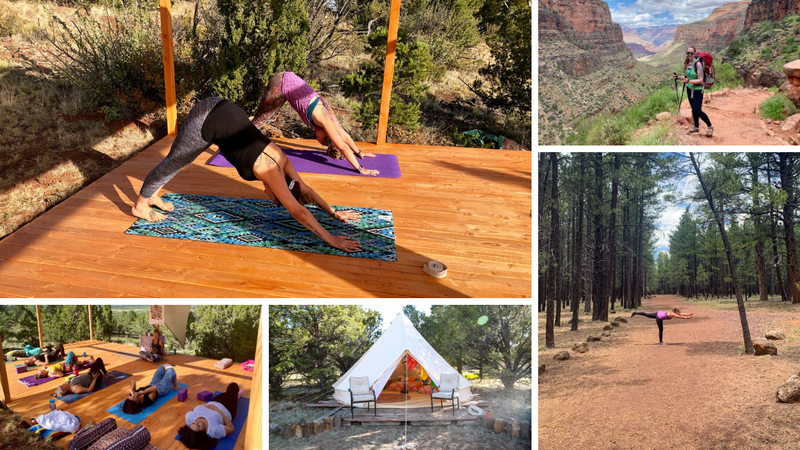 wellness, yoga, and hiking retreat in grand canyon