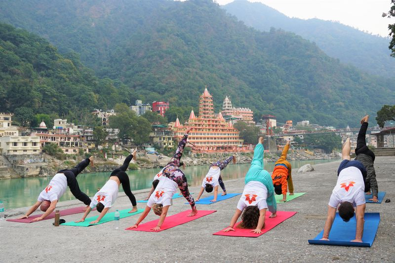 yoga teacher training in session