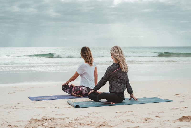 yoga by the sea in fuerteventura, spain