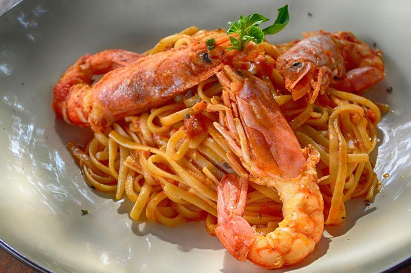 prawn-chorizo-pasta