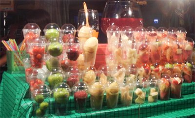 culinary holiday pictures - by Maria Lorna Rivera at street food in Bangkok fruit juices