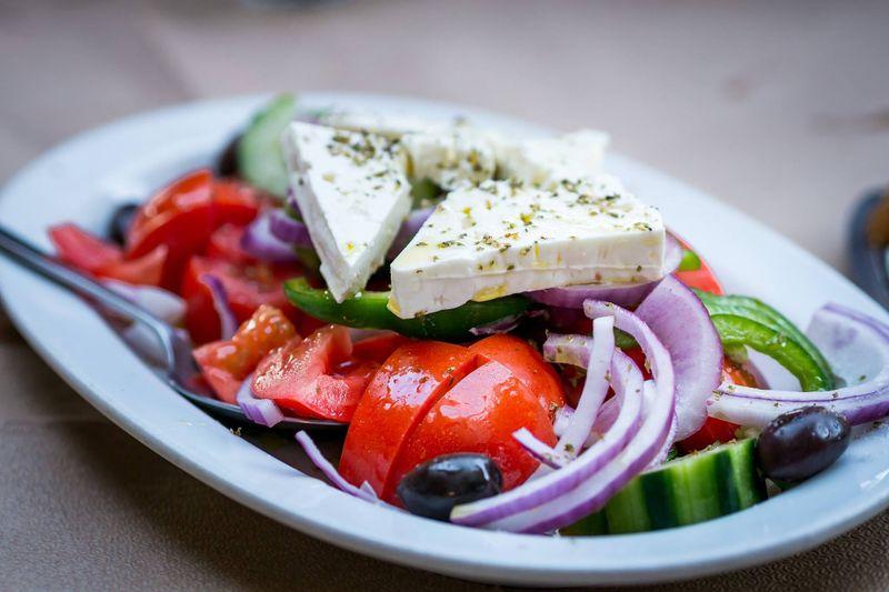 Horiatiki salata (classic Greek salad)