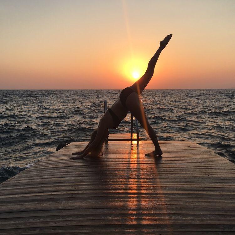 yoga by the beach